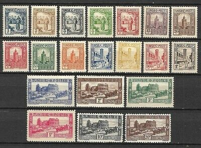 France TUNISIA 1931-34 monuments MH-VF values (1fr missing to a set) Sc 122-142