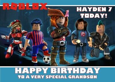 personalised birthday card Roblox any name/age/relation/occasion.