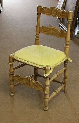 Set of  8 Antique Style Wood Kitchen Dining Chair French Style Vintage