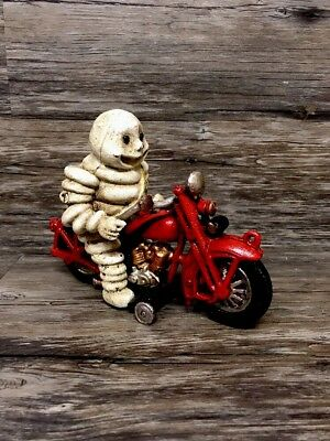 Michelin Man Harley-Davidson Motorcycle Cast Iron Toy!! Nice Heavy