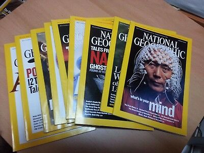 National Geographic Magazines 2005 9 Issues Good Condition