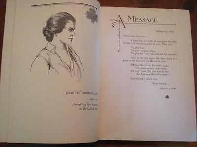 c1933 HANDBOOK Girl Scouts of America GSA Illustrated Book Juliette Low Founder