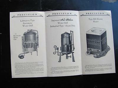 Precision Products for the Laboratory Vtg Brochure Apothecary Heater Water Still