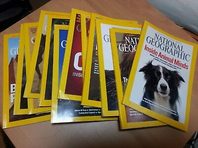 National Geographic Magazines 2008 11 Issues Good Condition