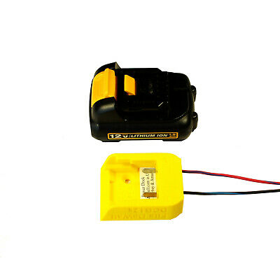 DCB-12x Power Dock for DeWalt Battery, wired, fits 12Vmax, PN# D12-PD