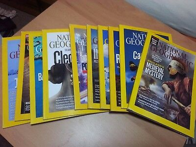 National Geographic Magazines 2011 9 Issues Good Condition