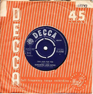 Screaming Lord Sutch *i'm A Hog For You/ Monster In Black Tights* 1963 Uk Rgm