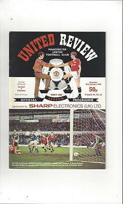 Manchester United v Chelsea FA Cup 1987/88 Football Programme