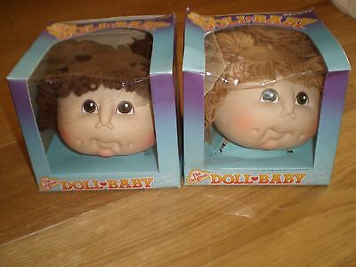 Two Original Doll-Baby Heads For Cabbage Patch Dolls