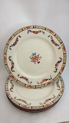 """Set of FIVE JG Meakin Richmond 9 3/4"""" Dinner Plates with Crazing"""