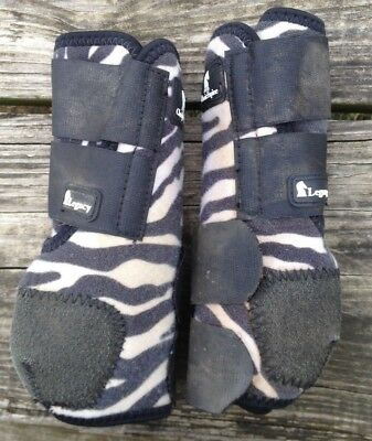 Used zebra print Classic Equine Legacy Sport boots front / medium
