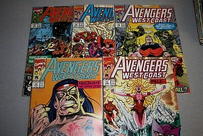 Small Avengers West Coast Collection (#71)_Average Grade Fine+ To F/vf_Marvel!