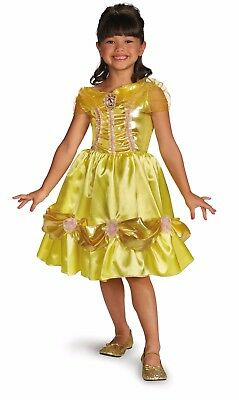 new disney belle from beauty beast child halloween costume sz m by disguise