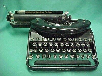 Vintage Remington Noiseless Portable Typewriter Model N65766 Black Manual