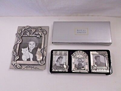 4 Unused Royal Limited Cat Kitten Picture Frames Excellent!
