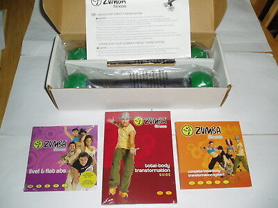 Zumba Fitness Toning Sticks And Dvds Boxed And Contents Sealed