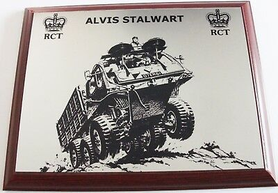 Royal Corps Of Transport Rct Stalwart Stolly Armd Div Tpt Regt Baor Rare Plaque