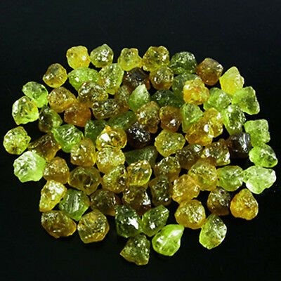 Lot-105.00+ CTS_(TOTAL)- NATURAL GREEN MALI GARNET FROM 3.00 TO 12.00 CTS