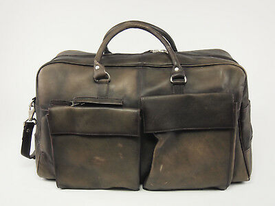 COLOMBIAN Vaquetta Leather 21'' Duffle Travel Carry-on Bag