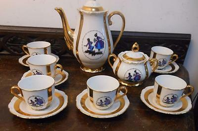 pretty small  tea   service czechoslovakian