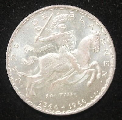 Beautifully Jang De Blanne 20 Fr Silver Commem. of Luxembourg