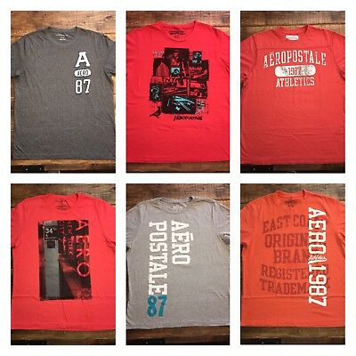 Mens Aeropostale XL Lot Short Sleeve T Shirts x6
