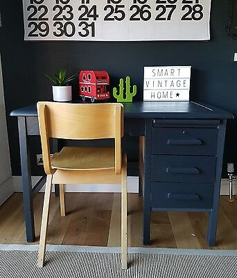 ☆ Super Original Vintage Wooden Abbess Childrens SCHOOL Desk & Chair - Courier ☆