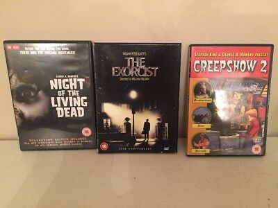 DVDs Horror Films Bundle The Exorcist Creepshow 2nNight Of The Living Dead