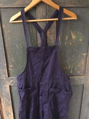 Vtg 50s BR Dungarees Overalls Work Trousers Chore Workwear Cabourn Jacket Hobo
