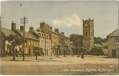 Ireland Co. Donegal Raphoe The Diamond Vintage Postcard