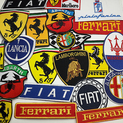 """ITALIAN CAR MARQUES"" PATCH SHOP - 40 Designs, UK Seller, Fast & Free Post!"
