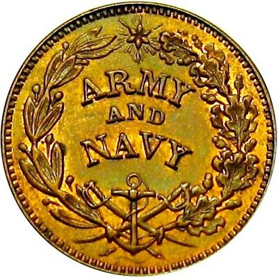 Army & Navy The Union Must Be Preserved Patriotic Civil War Token