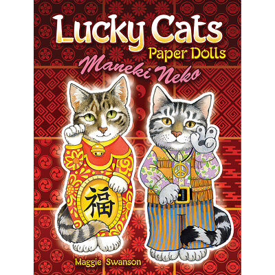 NEW Lucky Cats Paper Dolls Book - Maneki Neko - Good Luck - Japanese Lucky Cats