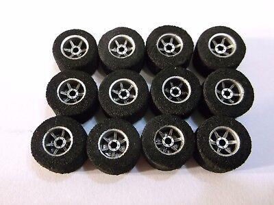 NMINT AURORA AFX T Jet Slot Chassis Race Track Car Rear Hubs & Tires Lot