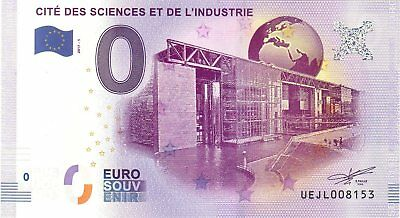 Billet 0 Euro Souvenir - Paris - Cite Des Sciences Et De L'industrie 2017