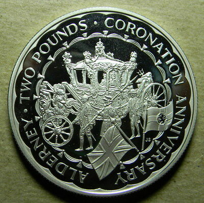 Alderney 1993 Silver Proof 2 Pounds