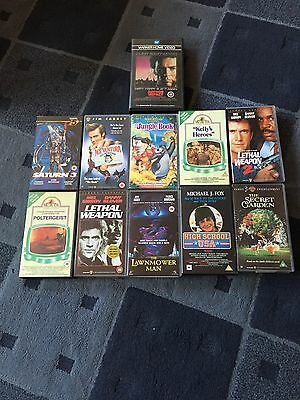Video Tapes Films Job Lot  11 Total  Very Good Condition