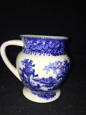 """Early 4 1/8"""" Flow Blue Egg Cup"""