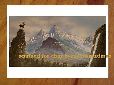 THE GRAND BUDAPEST HOTEL rare 130 PHOTO Color Key Set WES ANDERSON Ralph Fiennes