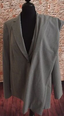 A Pea In The Pod Maternity Gray Suit Jacket & Pants Sz L M