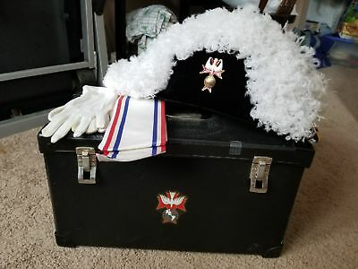 Knights of Columbus Chapeau, Slash, White Gloves and carrying Box