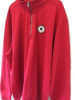 Converse All Star Chuck Taylor Men's Jumper Size XXL VINTAGE RETRO STYLE RED
