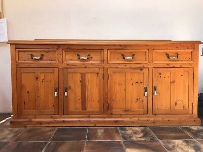 Solid Timber Country Buffet/Sideboard 4 Drawers and Cupboards