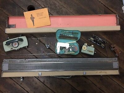 Vintage MARUYAMA Knitting Machine Knitter With Manual - Lots of Parts