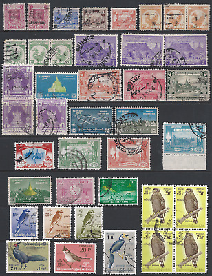 BURMA: Collection including 1948 Independence Day Block 4 CTO set 3 scans.