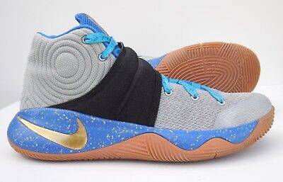 Nike Zoom Kyrie 2 iD Blue Gold Basketball Shoes Mens 8.5 843253-991