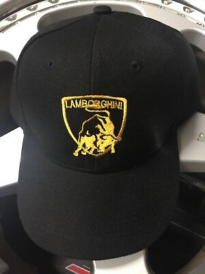 Lamborghini Racing Race Embroidered Hat Countach Diablo Gallardo Huracan 400Gt