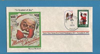 US 1979 Santa 'Symbol of Joy' Norman Rockwell Cover