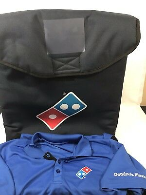 Domino's Pizza Delivery Bag Insulated Keeps Food Hot & Shirt Uniform Costume