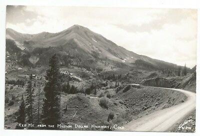 RPPC postcard, Red Mt. from Million Dollar Highway, Colo. (CO), Sanborn W-815